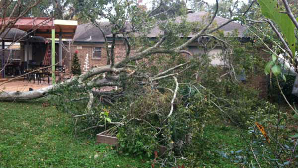 An iWitness user in Spring Branch sent us this picture, the aftermath of a strong storm that blew over the Houston area on Christmas morning. <span class=meta>(KTRK Photo)</span>