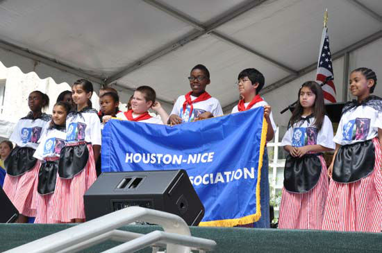The 42nd Houston International Festival kicked off with an opening ceremony on Friday, April 20. Congresswoman Sheila Jackson-Lee  welcomed the 2012 festival ceremony on the steps of City Hall.   Sister Cities provided an opening parade with children representing several local international schools.  Entertainment was provided by Susana Collins and Luna Argentina Dance Company &amp; Eternal Tango?s champion dance couple. <span class=meta>(KTRK Photo)</span>