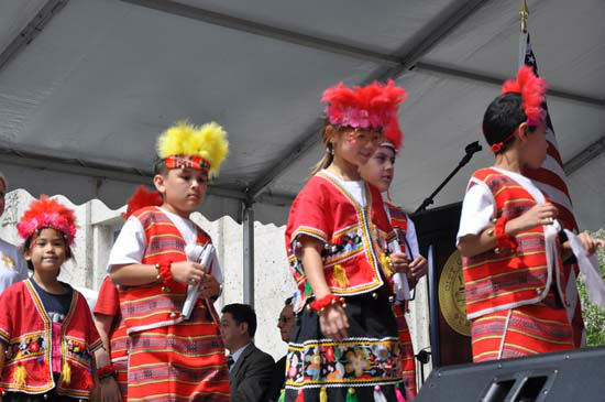 "<div class=""meta ""><span class=""caption-text "">The 42nd Houston International Festival kicked off with an opening ceremony on Friday, April 20. Congresswoman Sheila Jackson-Lee  welcomed the 2012 festival ceremony on the steps of City Hall.   Sister Cities provided an opening parade with children representing several local international schools.  Entertainment was provided by Susana Collins and Luna Argentina Dance Company & Eternal Tango?s champion dance couple. (KTRK Photo)</span></div>"