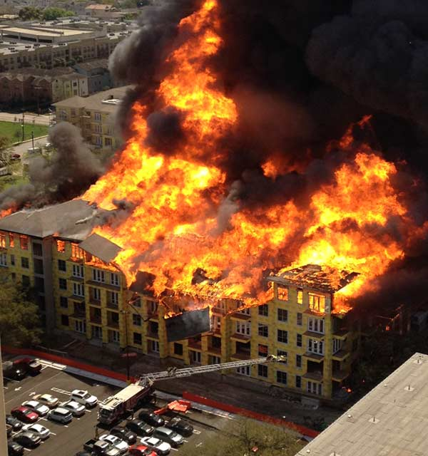 These are images viewers sent to us at news@abc13.com of the fire that burned in Montrose Tuesday, March 25. <span class=meta>(KTRK)</span>