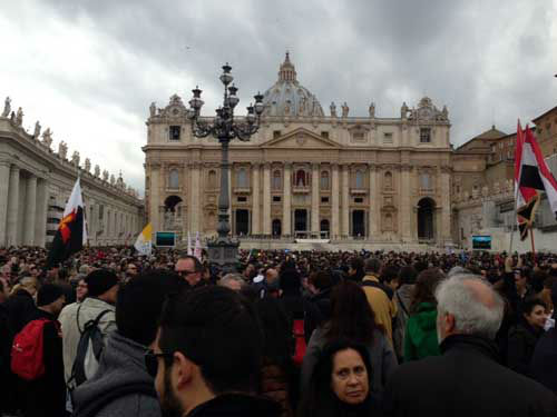 "<div class=""meta ""><span class=""caption-text "">These are photos taken Sunday, March 17 from St Peter's Square in Rome as more than 100,000 people gathered to see and hear Pope Francis from his studio window (Wendy Granato/Tom Koch/Art Rascon/Colin McIntyre)</span></div>"