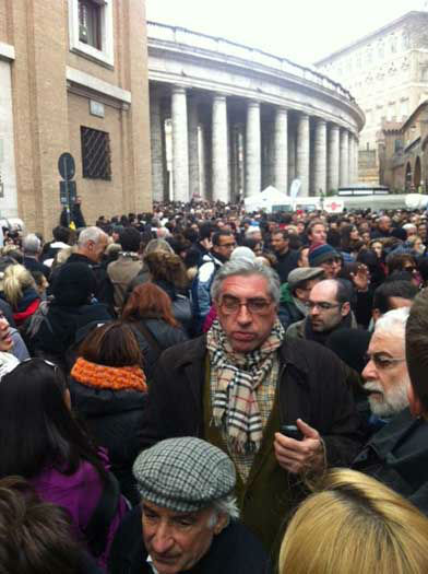 These are photos taken Sunday, March 17 from St Peter&#39;s Square in Rome as more than 100,000 people gathered to see and hear Pope Francis from his studio window <span class=meta>(Wendy Granato&#47;Tom Koch&#47;Art Rascon&#47;Colin McIntyre)</span>