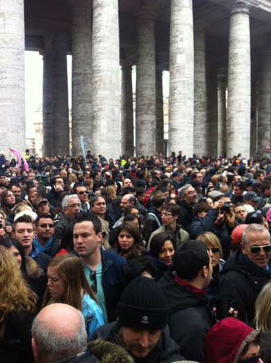 "<div class=""meta image-caption""><div class=""origin-logo origin-image ""><span></span></div><span class=""caption-text"">These are photos taken Sunday, March 17 from St Peter's Square in Rome as more than 100,000 people gathered to see and hear Pope Francis from his studio window (Wendy Granato/Tom Koch/Art Rascon/Colin McIntyre)</span></div>"