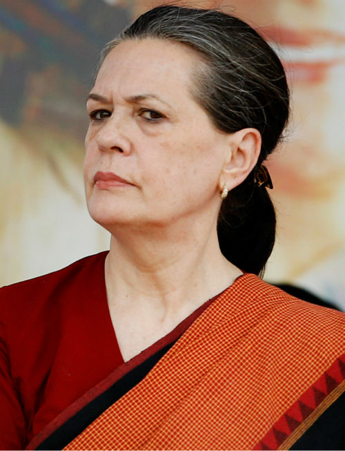 Sonia Gandhi, President of Indian National Congress, was No. 9 <span class=meta>(Photo&#47;Aijaz Rahi)</span>