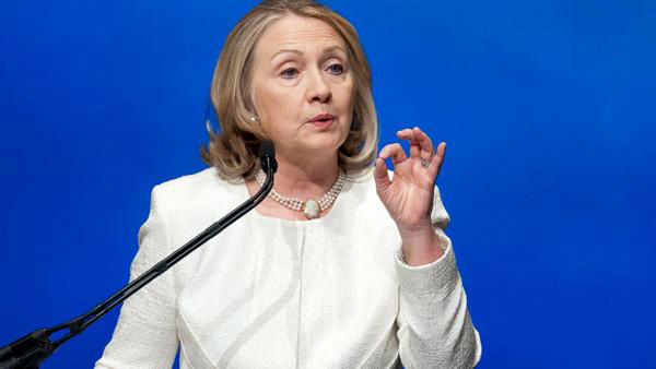 Former Secretary of State Hillary Clinton was No. 5, according to Forbes <span class=meta>(Photo&#47;AP photo)</span>