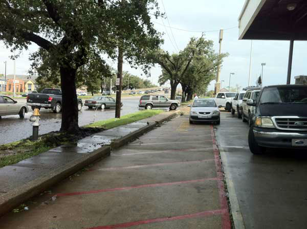 Eyewitness News Reporter Samica Knight shot this photos from a gas line between the 7th and 8th Wards in New Orleans.   She says it was the only station around that actually had gas.  <span class=meta>(Photo&#47;Samica Knight)</span>