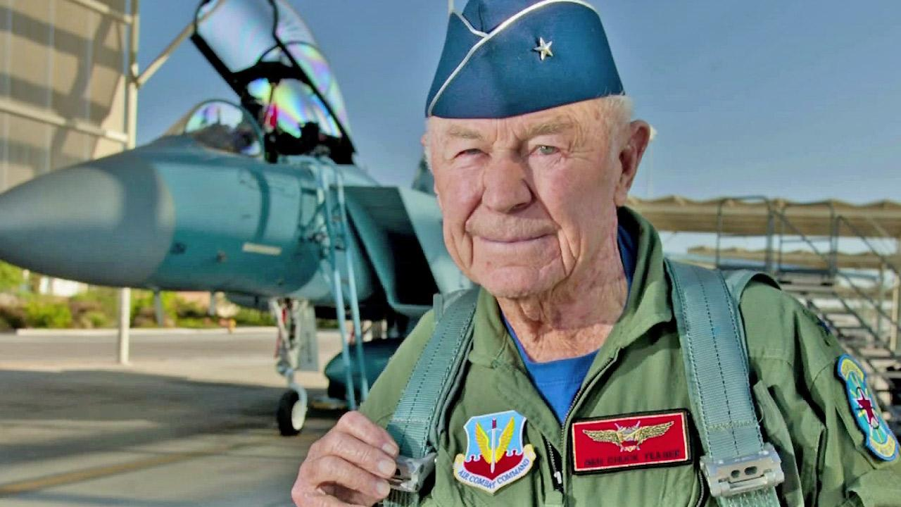 Chuck Yeager appears in this undated file photo.