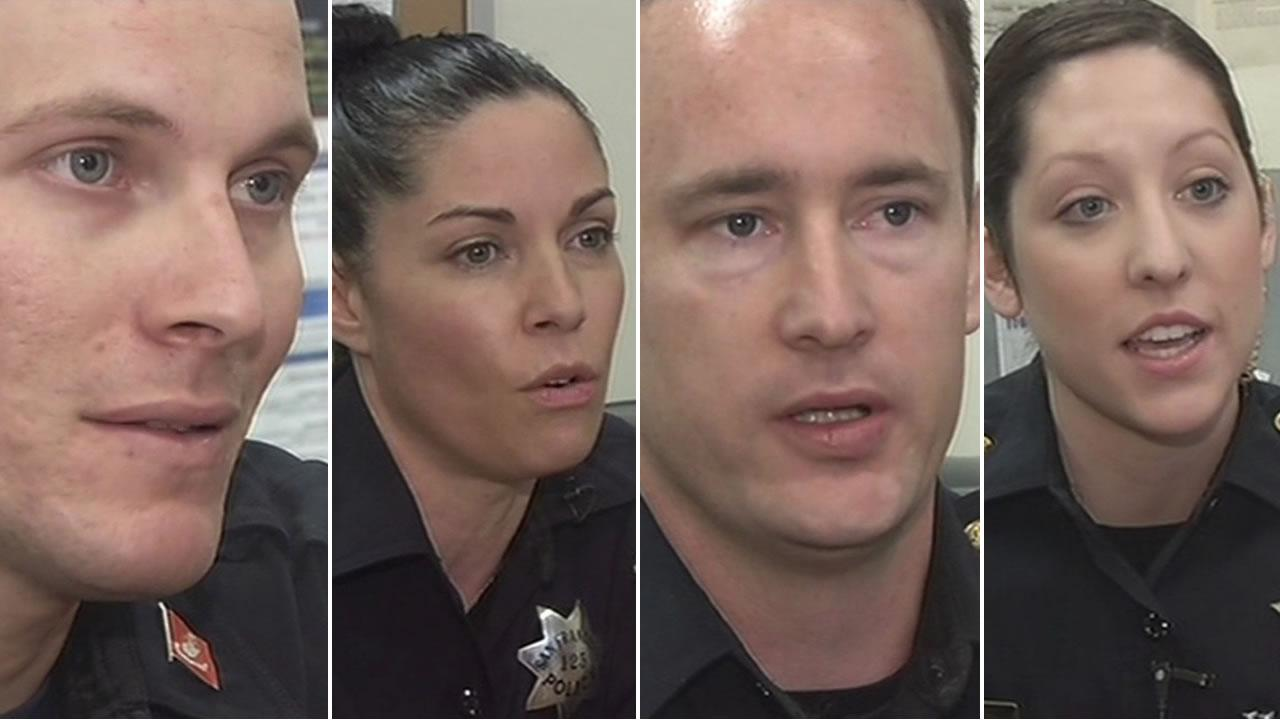 San Francisco police officers reached into their own wallets to help a homeless family of seven.