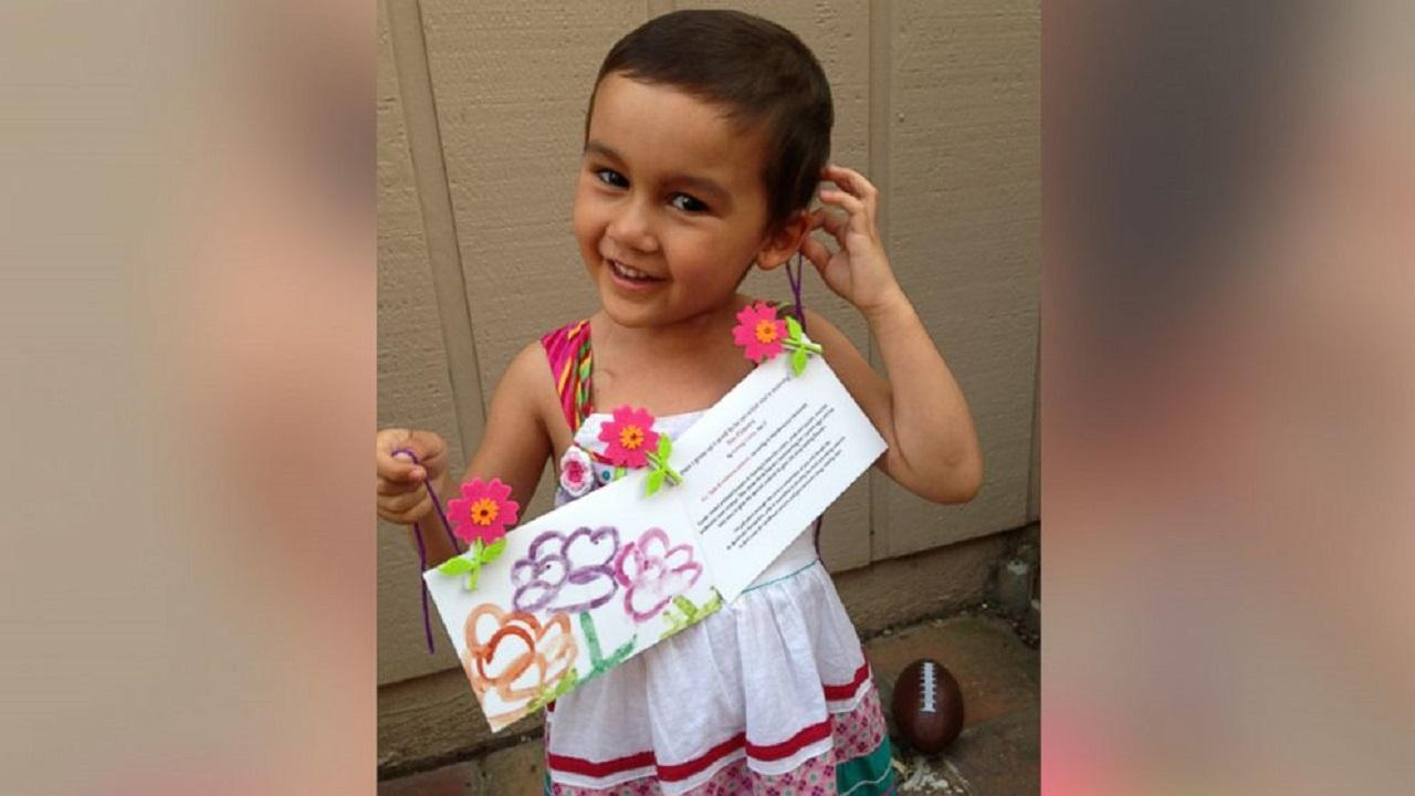 Three-year-old Aubrey Castro is a cancer patient who has decided to paint homemade Mothers Day cards as a fundraiser. The money will be donated to cancer research.