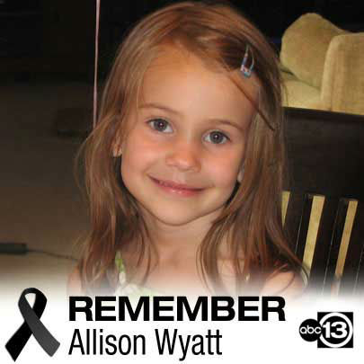 "<div class=""meta image-caption""><div class=""origin-logo origin-image ""><span></span></div><span class=""caption-text"">Allison Wyatt was a kind-hearted little girl who formed special bonds with almost everyone she met. She'd surprise her family with her random acts of kindness -- once even offering her snacks to a stranger on a plane, her family recalled. She loved her teachers and her family. Sometimes, she'd make her parents laugh so hard they cried. She wanted to be an artist, and her drawings would be taped to the walls as if the house were an art studio. ""Allison made the world a better place for six, far too short, years and we now have to figure out how to move on without her,"" her family said in a statement. ""She was a sweet, creative, funny, intelligent little girl who had an amazing life ahead of her. Our world is a lot darker now that she's gone. We love and miss her so much."" Her grandparents' church in Dayton, Ohio, encouraged parishioners to pray for the family. On Friday, after news of the shooting broke, one of Allison's aunts posted on Facebook that her nieces attended Sandy Hook school, and asked for prayer. ""One is fine and the other is missing at this time,"" she wrote. ""We are remaining positive at this time and counting on the power of prayer."" Later, after news of Allison's death, she asked for prayer again. (Photo/WABC)</span></div>"