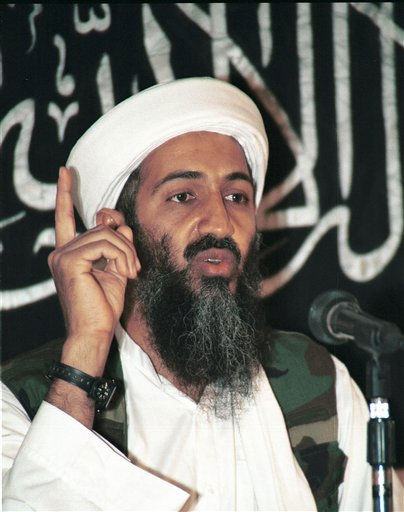 "<div class=""meta ""><span class=""caption-text "">FILE - This is a 1998 file photo shows Osama bin Laden, the prime suspect behind the Sept. 11, 2001 terrorist attacks in the United States, in a meeting at an undisclosed location in Afghanistan, according to the source.  A person familiar with developments on Sunday, May 1, 2011 says bin Laden is dead and the U.S. has the body.( AP Photo) (AP Photo/ Anonymous)</span></div>"