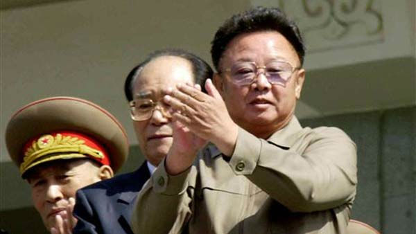 FILE - In this April 25, 2002 file photo, North Korean leader Kim Jong Il, right, applauds with Kim Yong Nam, president of the People&#39;s Congress from the balcony of a building during a military parade, celebrating the 70th anniversary of the founding of North  Korean People&#39;s Army in Pyongyang, North Korea. North Korean television announced Monday, Dec. 19, 2011 in a &#34;special broadcast&#34; that its leader Kim Jong Il has died in Pyongyang. &#40;AP Photo&#47;Katsumi Kasahara, File&#41; <span class=meta>(AP Photo&#47; Katsumi Kasahara)</span>