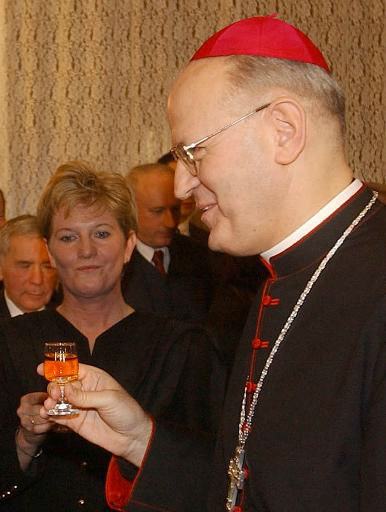 "<div class=""meta ""><span class=""caption-text "">Information below from The Vatican website    Cardinal Péter Erdo, Archbishop of Esztergom-Budapest and Primate of Hungary, was born on 25 June 1952 in Budapest, Hungary. He was ordained a priest on 18 June 1975 and holds doctorates in theology and canon law. Cardinal Erdo was professor of theology in the Faculty of Theology of the Archdiocese of Esztergom and at the Gregorian Pontifical University. He was rector of Rome's Hungarian Pontifical Institute. He served as professor, department head, dean and rector of the Theological Academy ""Péter Pázmány"", and was Principal of the Postgraduate Institute of Canon Law. He also taught at the Pontifical Catholic University Argentina (Buenos Aires) and at the Pontifical Lateran University. On 5 November 1999 was nominated titular Bishop of Puppi and Auxiliary of Székesfehérvár, receiving episcopal ordination on 6 January 2000. He has been president of the Commission of Ecclesiastical Law of the Bishops' Conference of Hungary. On 7 December 2002 Cardinal Erdo was nominated Archbishop of Esztergom-Budapest and Primate of Hungary. In September 2005 elected President of the Hungarian Bishops' Conference. In October 2006 elected President of the Council of European Bishops' Conferences (CCEE); in October 2011 confirmed for another quienquennium. He is the author of many written works and founder of various journals. Created and proclaimed Cardinal by the Bl. John Paul II in the consistory of 21 October 2003, of the Title of S. Balbina (St. Balbina). (AP Photo/ LAJOS SOOS)</span></div>"