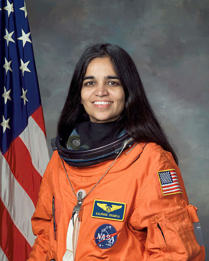 Kalpana Chawla, 41, emigrated to United States from India in 1980s and became an astronaut in 1994, who was one of the seven astronauts on the space shuttle Columbia, is seen in this undated handout photo from NASA.  Space shuttle Columbia broke apart in flames over Texas on Saturday, Feb. 1, 2003, killing all seven astronauts just 16 minutes before they were supposed to glide to ground in Florida. &#40;AP Photo&#47;NASA&#41; <span class=meta>(AP Photo&#47; Anonymous)</span>