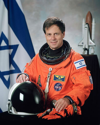 Ilan Ramon, 48, a colonel in Israel&#39;s air force and the first Israeli in space, who was one of the seven astronauts on the space shuttle Columbia, is seen in this undated handout photo from NASA.  Space shuttle Columbia broke apart in flames over Texas on Saturday, Feb. 1, 2003, killing all seven astronauts just 16 minutes before they were supposed to glide to ground in Florida. &#40;AP Photo&#47;NASA&#41; <span class=meta>(AP Photo&#47; Anonymous)</span>