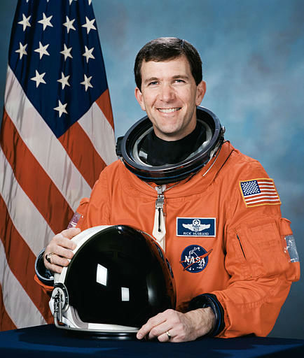 Commander Rick Husband, 45, Air Force colonel from Amarillo, Texas, who was one of the seven astronauts on the space shuttle Columbia, is seen in this undated handout photo from NASA.  Space shuttle Columbia broke apart in flames over Texas on Saturday, Feb. 1, 2003, killing all seven astronauts just 16 minutes before they were supposed to glide to ground in Florida. &#40;AP Photo&#47;NASA&#41; <span class=meta>(AP Photo&#47; Anonymous)</span>
