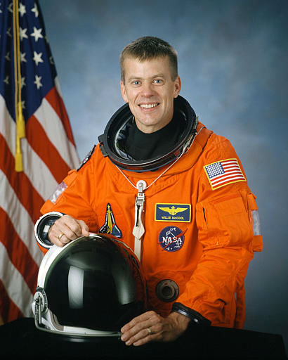 "<div class=""meta image-caption""><div class=""origin-logo origin-image ""><span></span></div><span class=""caption-text"">Pilot William McCool, 41, Navy commander from Lubbock, Texas, and father of three sons, who was one of the seven astronauts on the space shuttle Columbia, is seen in this undated handout photo from NASA.  Space shuttle Columbia broke apart in flames over Texas on Saturday, Feb. 1, 2003, killing all seven astronauts just 16 minutes before they were supposed to glide to ground in Florida. (AP Photo/NASA) (AP Photo/ Anonymous)</span></div>"