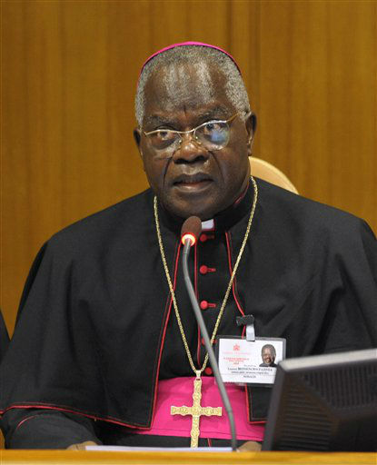 "<div class=""meta ""><span class=""caption-text "">Information below from The Vatican website    Cardinal Laurent Monsengwo Pasinya, Archbishop of Kinshasa, was born on 7 October 1939 in Mongobele, Democratic Republic of Congo. After studying at the seminary in Africa, he came to Rome to study theology at the Pontifical Urbanian University.   He was ordained a priest on 21 December 1963.  He also studied at the Pontifical Biblical Institute of Rome and of Jerusalem. He subsequently moved back to Africa and began teaching Sacred Scripture at the theological faculty in Kinshasa and at John XXIII Major Seminary.   On 13 February 1980 he was appointed titular Bishop of Aquae Novae of Proconsulari and Auxiliary of Inongo. He was consecrated on 4 May 1980.  On 7 April 1981 he was appointed Auxiliary of Kisangani.  On 1 September 1988 he was appointed Archbishop of Kisangani.  In 1984, he was elected president of the Episcopal Conference. During the 1990s, he took an active role in his country's political situation, helping to guide the country in the delicate transition from Zaire to the Democratic Republic of Congo and promoting peace.  On 6 December 2007 he was appointed Archbishop of Kinshasa.  During Lent of 2012 he was called to preach the spiritual exercises for the Roman Curia in which Pope Benedict XVI took part.  On 30 June 2012 he was nominated President Delegate of the XIII Ordinary General Assembly of the Synod of Bishops to be held in the Vatican on 7-28 October 2012, on the theme ""The New Evangelization for the Transmission of the Christian Faith"".  Created and proclaimed Cardinal by Benedict XVI in the consistory of 20 November 2010, of the Title of Santa Maria ""Regina Pacis"" in Ostia Mare (Saint Mary ""Regina Pacis"" at Ostia Mare). (AP Photo/ Anonymous)</span></div>"