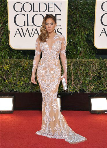 Actress Jennifer Lopez at the 70th Annual Golden Globe Awards at the Beverly Hilton Hotel on Sunday Jan. 13, 2013, in Beverly Hills, Calif. <span class=meta>(Photo by Jordan Strauss&#47;AP)</span>