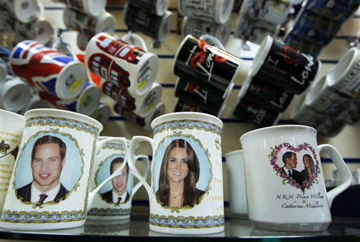 "<div class=""meta image-caption""><div class=""origin-logo origin-image ""><span></span></div><span class=""caption-text"">Memorabilia for the wedding of Britain's Prince William and Kate Middleton are displayed in a shop in London, Tuesday, Jan. 18, 2011. The couple are due to get married on April 29. (AP Photo/Matt Dunham) (Photo/Matt Dunham)</span></div>"