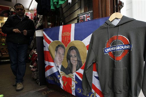"<div class=""meta ""><span class=""caption-text "">Memorabilia for the wedding of Britain's Prince William and Kate Middleton are displayed in a shop in London, Tuesday, Jan. 18, 2011. The couple are due to get married on April 29. (AP Photo/Matt Dunham) (Photo/Matt Dunham)</span></div>"