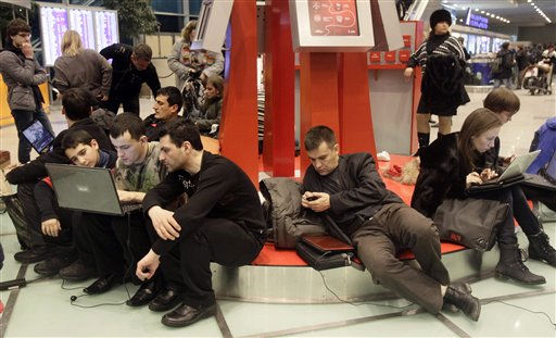 "<div class=""meta image-caption""><div class=""origin-logo origin-image ""><span></span></div><span class=""caption-text"">Passengers seen at Domodedovo airport in Moscow, Monday, Jan. 24, 2011. A suicide bomber set off an explosion that ripped through Moscow's busiest airport on Monday, coating its international arrivals terminal in blood. The attack killed  dozens of people and wounded more than a hundred.  (AP Photo/Ivan Sekretarev) (AP Photo/ Ivan Sekretarev)</span></div>"