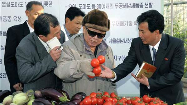 "<div class=""meta image-caption""><div class=""origin-logo origin-image ""><span></span></div><span class=""caption-text"">In this undated photo released on Friday, March 4, 2011 by Korean Central News Agency via Korea News Service, North Korean leader Kim Jong Il, center, inspects at Pyongyang Vegetable Science Institute in Pyongyang, North Korea. (AP Photo/Korean Central News Agency via Korea News Service) JAPAN OUT UNTIL 14 DAYS AFTER THE DAY OF TRANSMISSION (AP Photo/ MY**TOK**)</span></div>"