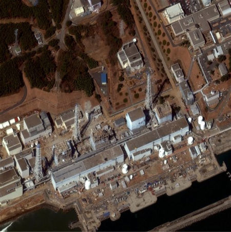 "<div class=""meta image-caption""><div class=""origin-logo origin-image ""><span></span></div><span class=""caption-text"">In this Friday, March 18, 2011 satellite image released by DigitalGlobe, the Fukushima Dai-ichi is shown.  Sirens wailed Friday along a devastated coastline to mark exactly one week since an earthquake and tsunami triggered a nuclear emergency, and the government acknowledged it was slow to respond to the disasters that the prime minister called a ""great test for the Japanese people."" The admission came as Japan welcomed U.S. help in stabilizing its overheated, radiation-leaking Fukushima Dai-ichi nuclear complex and raised the accident level for the crisis, putting it on a par with the 1979 Three Mile Island accident in Pennsylvania. (AP Photo/DigitalGlobe) NO SALES (AP Photo/ Anonymous)</span></div>"