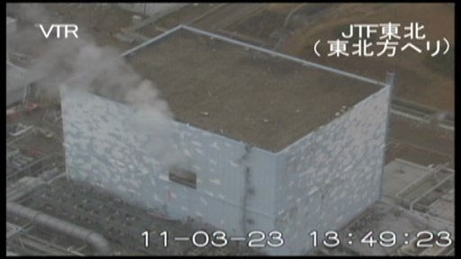In this image taken from footage filmed on Wednesday, March 23, 2011 by Japan Ground Self-Defense Force and released by the Japan Defense Ministry Friday, March 25, white smoke billows from Unit 2 of the tsunami-stricken Fukushima Dai-ichi nuclear complex. Japanese reads: Ground Self-Defense Force troop in charge of Japan&#39;s northeastern region &#40;Northeastern helicopter&#41;. &#40;AP Photo&#47;Japan Defense Ministry&#41; EDITORIAL USE ONLY <span class=meta>(AP Photo&#47; Anonymous)</span>