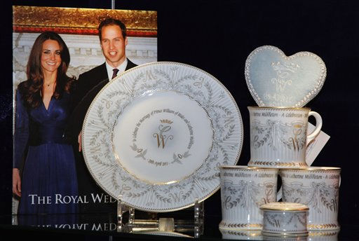 Items from the official Royal wedding commemorative china range are displayed at the Queen?s Gallery shop in London Tuesday March 22, 2011. The special Commemorative China includes plates, tea cups, tea towels, books and decorative wedding invitations, and celebrates the forthcoming wedding of Prince William and Kate Middleton. The couple are scheduled to wed on Friday April 29, 2011.&#40;AP Photo&#47;Dan Kitwood, pool&#41; <span class=meta>(AP Photo&#47; Dan Kitwood)</span>