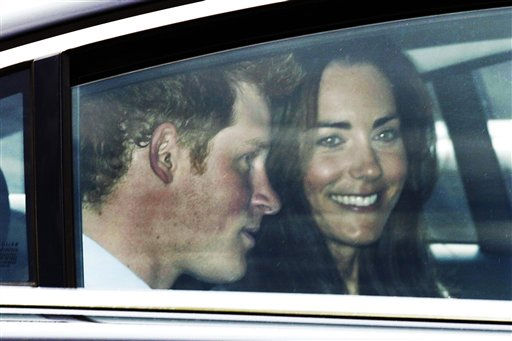"<div class=""meta ""><span class=""caption-text "">Kate Middleton, right, and best man Prince Harry leave Westminster Abbey in London after a rehearsal in readiness for the royal wedding, Thursday, April 28, 2011. Kate Middleton and her bridesmaids, together with best man Prince Harry, rehearsed once more Thursday at Westminster Abbey, practicing the timing of the upcoming royal wedding to the last detail.(AP Photo/Sang Tan) (AP Photo/ Sang Tan)</span></div>"