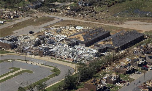 This is an aerial view of tornado damage in Tuscaloosa, Ala., Thursday, April 28, 2011. &#40;AP Photo&#47;Dave Martin&#41; <span class=meta>(AP Photo&#47; Dave Martin)</span>