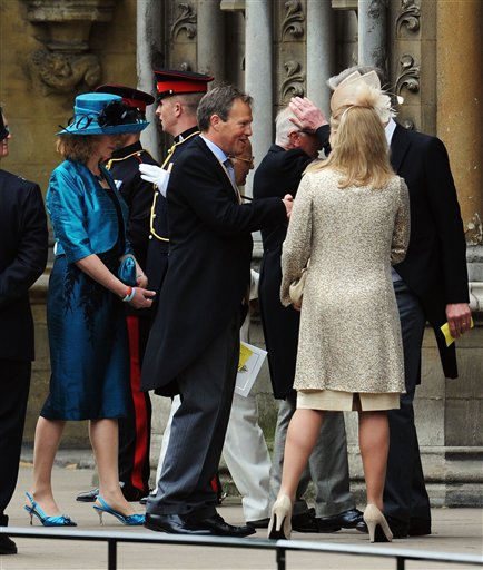 "<div class=""meta ""><span class=""caption-text "">Tom Bradby, political editor for ITV News, arrives to attend the Royal Wedding of Prince William to Catherine Middleton at Westminster Abbey on April 29, 2011 in London. (AP Photo/Jasper Juinen, Pool) (Photo/Jasper Juinen)</span></div>"