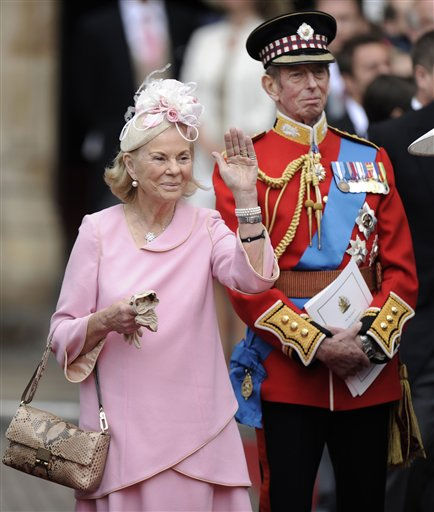 The Duke and Duchess of Kent leave after the wedding service at Westminster Abbey at the Royal Wedding in London Friday, April, 29, 2011. &#40;AP Photo&#47;Martin Meissner&#41; <span class=meta>(Photo&#47;Martin Meissner)</span>