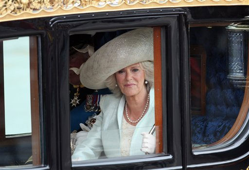 "<div class=""meta ""><span class=""caption-text "">Duchess Of Cornwall leaves the Abbey after the wedding of Britain's Prince William and Kate Middleton in central London April 29, 2011. (AP Photo/Paul Rogers, Pool) (Photo/Paul Rogers)</span></div>"