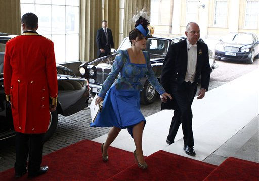Britain&#39;s Princess Eugenie arrives at Buckingham Palace after the wedding ceremony of Britain&#39;s Prince William and Catherine, Duchess of Cambridge, in central London April 29, 2011. &#40;AP Photo&#47;ANDREW WINNING, Pool&#41; <span class=meta>(Photo&#47;ANDREW WINNING)</span>