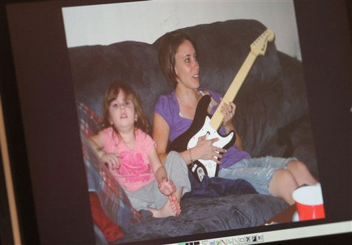 A photo of Casey Anthony and her daughter Caylee Anthony that was entered into evidence is seen on a courtroom monitor at the Orange County Courthouse, Thursday, May 26, 2011, in Orlando, Fla.&#40;AP Photo&#47;Red Huber,Pool&#41; <span class=meta>(AP Photo&#47; Red Huber)</span>