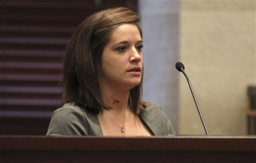 "<div class=""meta ""><span class=""caption-text "">Melissa England testifies in the trial of Casey Anthony at the Orange County Courthouse, Thursday, May 26, 2011, in Orlando, Fla. Anthony is charged with murder in the 2008 death of her daughter Caylee. (AP Photo/Red Huber, Pool) (AP Photo/ Red Huber)</span></div>"