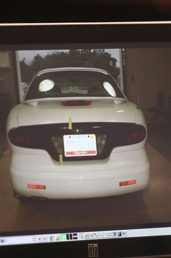 "<div class=""meta ""><span class=""caption-text "">This photo of an image projected on a courtroom monitor shows a car that had been driven by Casey Anthony, entered into evidence in her trial at the Orange County Courthouse, Thursday, May 26, 2011, in Orlando, Fla. Anthony is charged with murder in the 2008 death of her daughter Caylee. (AP Photo/Red Huber, Pool) (AP Photo/ Red Huber)</span></div>"