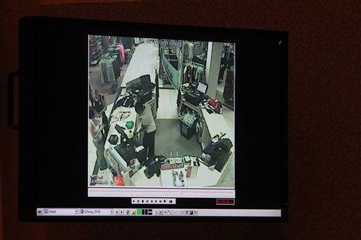 "<div class=""meta ""><span class=""caption-text "">A detail of a surveillance video shown as evidence in the Casey Anthony trial is shown on a monitor at the Orange County Courthouse, Friday, May 27, 2011 in Orlando, Fla. The video is one of a series from retail stores that show Anthony shopping during the time period when her daughter Caylee was missing.  Anthony  has pleaded not guilty to first-degree murder of her daughter, 2-year-old Caylee Anthony in the summer of 2008. If convicted, she could be sentenced to death. (AP Photo/Red Huber, Pool) (AP Photo/ Red Huber)</span></div>"