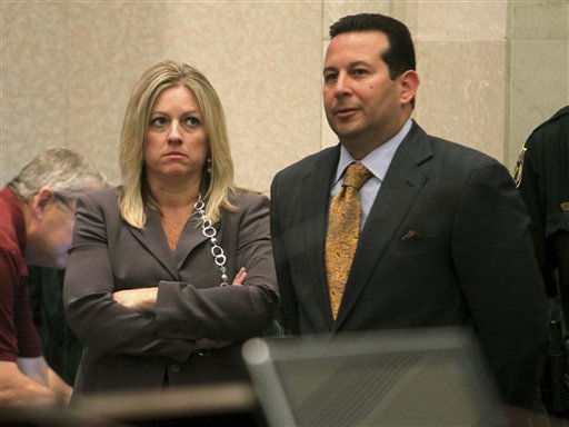 "<div class=""meta image-caption""><div class=""origin-logo origin-image ""><span></span></div><span class=""caption-text"">Assistant state attorney Linda Drane Burdick, left, and defense attorney Jose Baez are shown during a break in the Casey Anthony murder trial at the Orange County Courthouse, Friday, May 27, 2011 in Orlando, Fla. Anthony, 25, has pleaded not guilty to first-degree murder of her daughter, 2-year-old Caylee Anthony, in the summer of 2008. If convicted, she could be sentenced to death. (AP Photo/Red Huber, Pool) (AP Photo/ Red Huber)</span></div>"