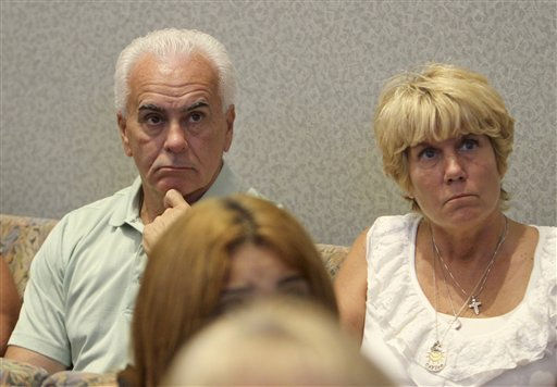 "<div class=""meta image-caption""><div class=""origin-logo origin-image ""><span></span></div><span class=""caption-text"">George and Cindy Anthony watch videos at the Orange County Courthouse on Thursday, June 2, 2011, in Orlando, Fla., showing their daughter Cindy Anthony in jail. Casey Anthony is charged in the murder of her daughter Caylee. Anthony, 25, is charged with murder in the 2008 death of her daughter Caylee.  If convicted, she could be sentenced to death.  (AP Photo/Red Huber, Pool) (AP Photo/ Red Huber)</span></div>"