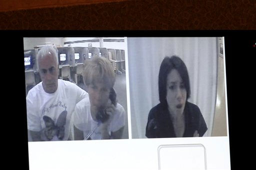 A courtroom monitor shows Casey Anthony, right, talking with her parents,  George and Cindy Anthony, while she was in jail in a video presented as evidence in the Casey Anthony trial at the Orange County Courthouse, Friday,  June 3, 2011 in Orlando. The tapes document jail-house conversations between her and her parents after she had been detained following the disappearance of her daughter Caylee. Anthony, 25, is charged with killing her daughter Caylee in the summer of 2008. &#40;AP Photo&#47;Red Huber, Pool&#41; <span class=meta>(AP Photo&#47; Red Huber)</span>