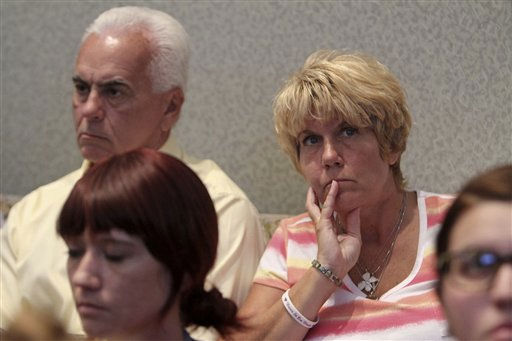"<div class=""meta ""><span class=""caption-text "">George and Cindy Anthony listen and watch a video in court during the trial of their daughter Casey Anthony at the Orange County Courthouse, Friday,  June 3, 2011 in Orlando. The tapes document jail-house conversations between Anthony and her parents after she had been detained following the disappearance of her daughter Caylee.  Anthony, 25, is charged with killing her daughter Caylee in the summer of 2008. (AP Photo/Red Huber, Pool) (AP Photo/ Red Huber)</span></div>"