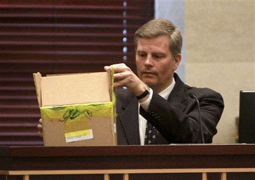 Dr. Michael Rickenbach of the FBI testifies during the Casey Anthony trial at the Orange County Courthouse on Tuesday, June 7, 2011, in Orlando, Fla. Anthony is charged with killing her 2-year old daughter in 2008. &#40;AP Photo&#47;Joe Burbank,Pool&#41; <span class=meta>(AP Photo&#47; Joe Burbank)</span>