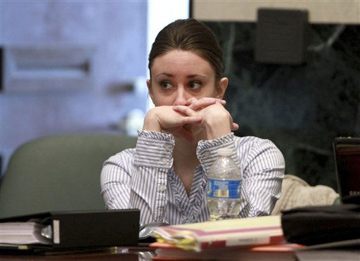 "<div class=""meta image-caption""><div class=""origin-logo origin-image ""><span></span></div><span class=""caption-text"">Casey Anthony sits in court during her murder trial at the Orange County Courthouse on Tuesday, June 7, 2011, in Orlando, Fla.  Anthony is charged with killing her 2-year old daughter in 2008.  (AP Photo/Joe Burbank,Pool) (AP Photo/ Joe Burbank)</span></div>"