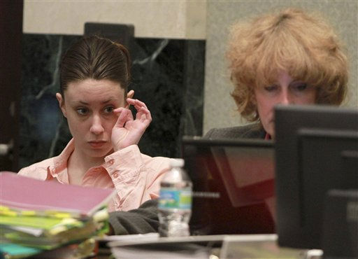 "<div class=""meta image-caption""><div class=""origin-logo origin-image ""><span></span></div><span class=""caption-text"">Casey Anthony, and her attorney Dorothy Clay Sims, right, sit at the defense table before the start of the 13th day of her murder trial at the Orange County Courthouse, Wednesday, June 8, 2011 in Orlando, Fla. Anthony, 25, is charged with killing her daughter Caylee in the summer of 2008. (AP Photo/Joe Burbank, Pool) (AP Photo/ Joe Burbank)</span></div>"