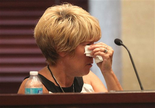 "<div class=""meta ""><span class=""caption-text "">Cindy Anthony wipes tears after testifying in the murder trail of her daughter Casey Anthony, at the Orange County Courthouse, in Orlando, Fla., Tuesday, June 14, 2011. Casey Anthony, 25,  is charged with killing her 2-year old daughter in 2008. (AP Photo/Red Huber,Pool) (AP Photo/ Red Huber)</span></div>"