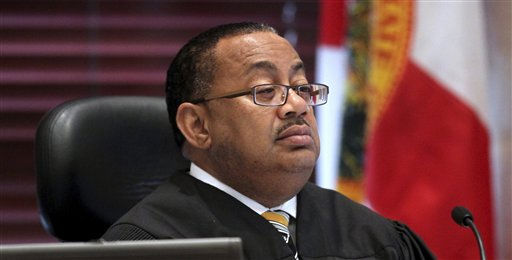 Chief judge Belvin Perry listens to a motion for acquittal from the defense during day 19 of Casey Anthony&#39;s murder trial at the Orange County Courthouse, in Orlando, Fla., Wednesday, June 15, 2011. Anthony, 25,  is charged with killing her 2-year old daughter in 2008. Prosecutors finished presenting their case Wednesday morning against Anthony.  &#40;AP Photo&#47;Red Huber,Pool&#41; <span class=meta>(AP Photo&#47; Red Huber)</span>
