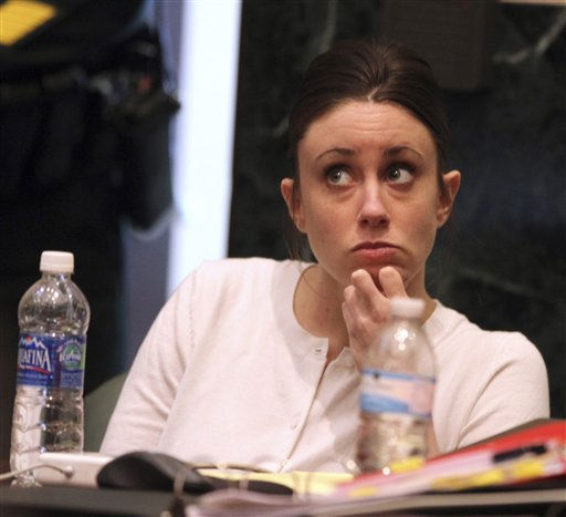 "<div class=""meta image-caption""><div class=""origin-logo origin-image ""><span></span></div><span class=""caption-text"">Casey Anthony listens to court proceedings during her murder trial at the Orange County Courthouse, in Orlando, Fla., Thursday, June 16, 2011.  Anthony, 25, is charged with killing her 2-year old daughter in 2008. (AP Photo/Red Huber, Pool) (AP Photo/ Red Huber)</span></div>"